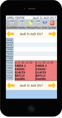 i-agenda sur smartphone