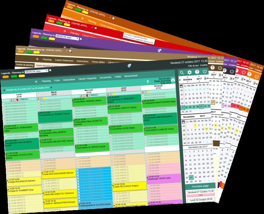 Nouveaux jeux de couleurs pour les interfaces d'i-agenda